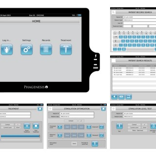 Dysphagia treatment system Medical device user interface design